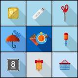 Płaski ikona set Zdjęcia Stock