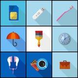 Płaski ikona set Zdjęcia Royalty Free