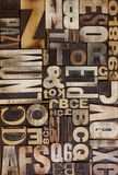 płaski letterpress Zdjęcie Royalty Free