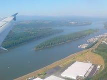 Płaski lot Zdjęcia Royalty Free