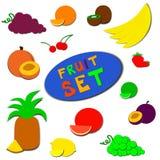 Płaski owoc set Obraz Royalty Free