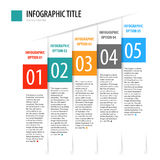 Płaski pionowo infographics opcj sztandaru set Obraz Stock
