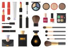 Płaski projekt Kosmetyka produkt Zdjęcie Royalty Free