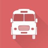 Płaski projekta autobus Obraz Stock