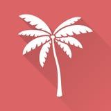 Płaski projekta drzewko palmowe Zdjęcia Stock