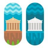 Płaski projekta Parthenon Zdjęcie Royalty Free