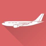 Płaski projekta samolot Obraz Royalty Free
