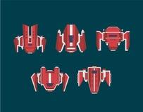 Płaski statku kosmicznego set Fotografia Royalty Free