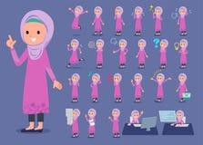 Płaski typ arab girl_1 Zdjęcie Royalty Free