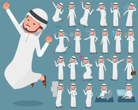 Płaski typ arab man_1 Fotografia Stock
