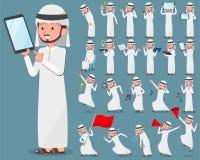 Płaski typ arab man_2 Zdjęcie Royalty Free