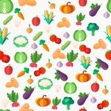 Płaskich warzyw bezszwowy wzór ilustracja wektor