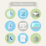 Płaskie biurowe ikony 1 ilustracji