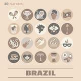 Płaskie ikony Brazylia 8 Obraz Royalty Free
