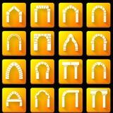 Płaskie ikony inkasowe dla archway Obrazy Royalty Free