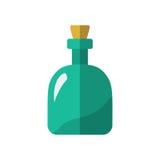 Płaskiej rumowej butelki ikony odosobniona wektorowa ilustracja Fotografia Royalty Free