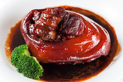 Pé assado da carne de porco Fotos de Stock Royalty Free