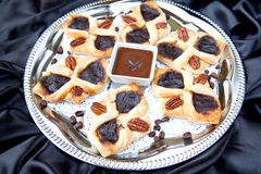 płatkowaty kawowy croissant Fotografia Royalty Free