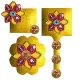 pärlor förskönade sequins Royaltyfria Bilder