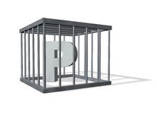 P in a cage Royalty Free Stock Photos