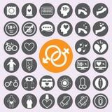 Płci ikony set Vector/EPS10 ilustracja wektor