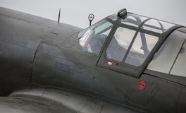 P-40 Cockpit. A detail photo of a WW2 era P-40 Stock Image