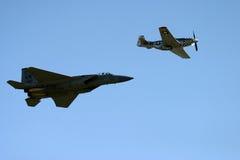 P51D Mustang & Grumman F-14 Tomcat Stock Photo