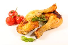 P? de galinha grelhado isolado fotografia de stock royalty free
