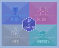 4 P de marketing images stock