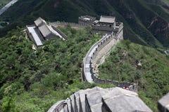 På den stora väggen av Kina Bejing Royaltyfria Foton