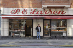 P.e.larsen butcher shop Stock Image