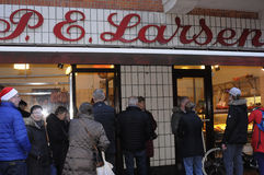 P.e larsen butcher shop Stock Photo