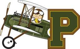 P está para el piloto ilustración del vector