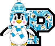 P está para el pingüino stock de ilustración