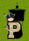 P está para el pirata ilustración del vector