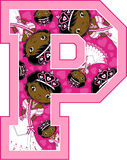 P está para la princesa Imagen de archivo libre de regalías