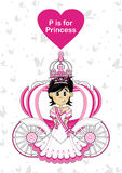P est pour la princesse Photo stock