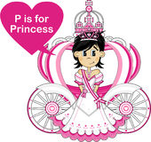 P est pour la princesse Photo libre de droits