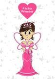 P est pour la princesse Photos stock