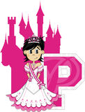 P est pour princesse Learning Illustration Photos libres de droits