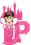 P est pour princesse Learning Illustration Photos stock