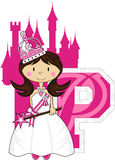 P est pour princesse Learning Illustration Photographie stock