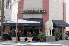 P.F. Chang's Restaurant at Galleria Mall. Fort Lauderdale, FL, USA - April 30, 2016: The front of P. F. Chang's Chinese Asian restaurant at a shopping royalty free stock photo