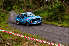 P. Fitzgerald driving Ford Escort Royalty Free Stock Photo