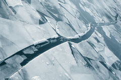Is på floden Royaltyfri Bild
