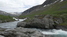 1080p, Flowing River Pan, Norway Stock Photo