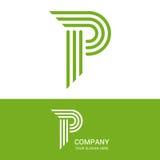 P het ontwerp van het brievenembleem Royalty-vrije Stock Fotografie