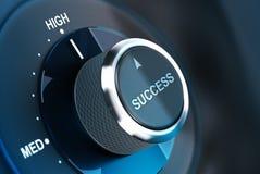 På hög nivå av framgång. Lyckas Royaltyfri Foto