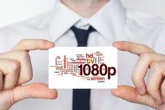 1080p Hombre de negocios en la camisa blanca con una demostración del lazo negro u ho Imagen de archivo libre de regalías
