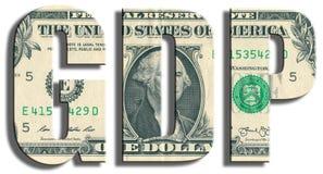 P.I.L. - Prodotto interno lordo Struttura del dollaro americano Fotografia Stock Libera da Diritti